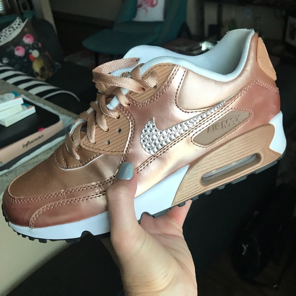 Rose Gold Nike Air Max Bling Crystal. M 5b660f664773681e209905d8 a6b8663c3441